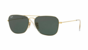 Ray-Ban Gold G-15 Plastic Lens Caravan Sunglasses  (RB3603 001/71 56MM)