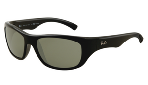 Ray-Ban Men's Black Frame Green Lens Sunglasses (RB4177 601 63MM)