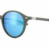 Ray-Ban Round Liteforce  Grey w/Blue Flash Lens Sunglasses (RB4237 620617 50)