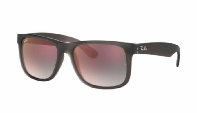 Ray-Ban Justin Grey Gradient Mirrored Sunglasses (RB4165 606/U0 51)