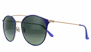 Ray-Ban Violet Bronze Copper Grey Gradient Sunglasses (RB3546 9073A5 52MM)