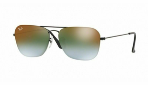 Ray Ban Green Gradient Mirror Square Sunglasses (RB3603 002/T056 56MM)