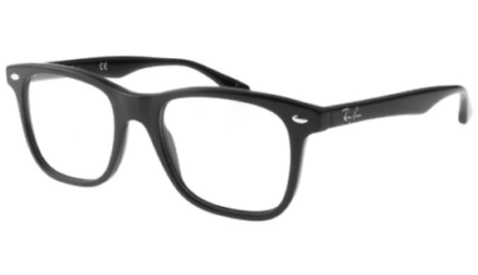 Ray-Ban Highstreet Framed Shiny Black Eyeglasses (RX RX5248-2000)