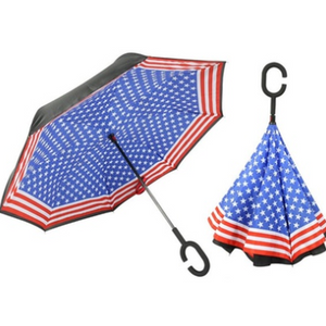 USA Inverted C-Shaped Handle Umbrella