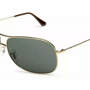 9dfd83a8781d Ray-Ban Mens Gold/Green Pilot Aviator Sunglasses (RB3267 001/71 64MM