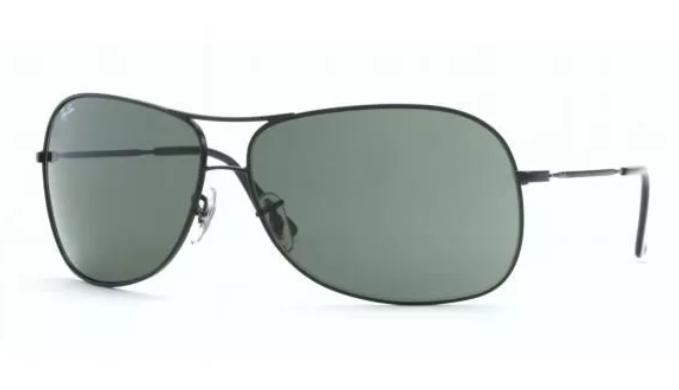 Ray-Ban  Black/ Grey Aviator Sunglasses (RB3267 006/71)