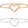 Open Heart Stacking Ring
