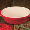 Cuisine & Co 7 Piece Red Artisan Ceramic Stoneware Bundle (2 Casserole, Rectangular, Square, Loaf) - Ships Next Day!