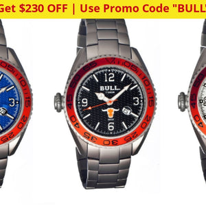 Bull Titanium Hereford Pro-Diver Watch + Free Return Shipping - Ships Quick! Watches