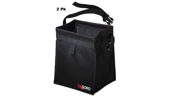 OXGord Auto Trash Bag Waste Bin with Back Seat Holder (Buy More Save More) - Ships Quick!