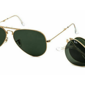 Ray-Ban Polarized Aviator Folding Sunglasses - Ships Next Day!