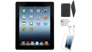 Apple Ipad 4 Retina Bundle With Case Charger & Screen Protector Electronics