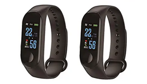 2 Pack: Smart Fitness Tracker w/ Bluetooth, Smart Alarm, Camera, Anti Loss & More!