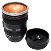 2 Pack: SLR Camera Lens Stainless Steel Travel Coffee Mug with Leak-Proof Lid