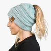Soft Knit Ponytail Beanie 2 or 4 Pack!