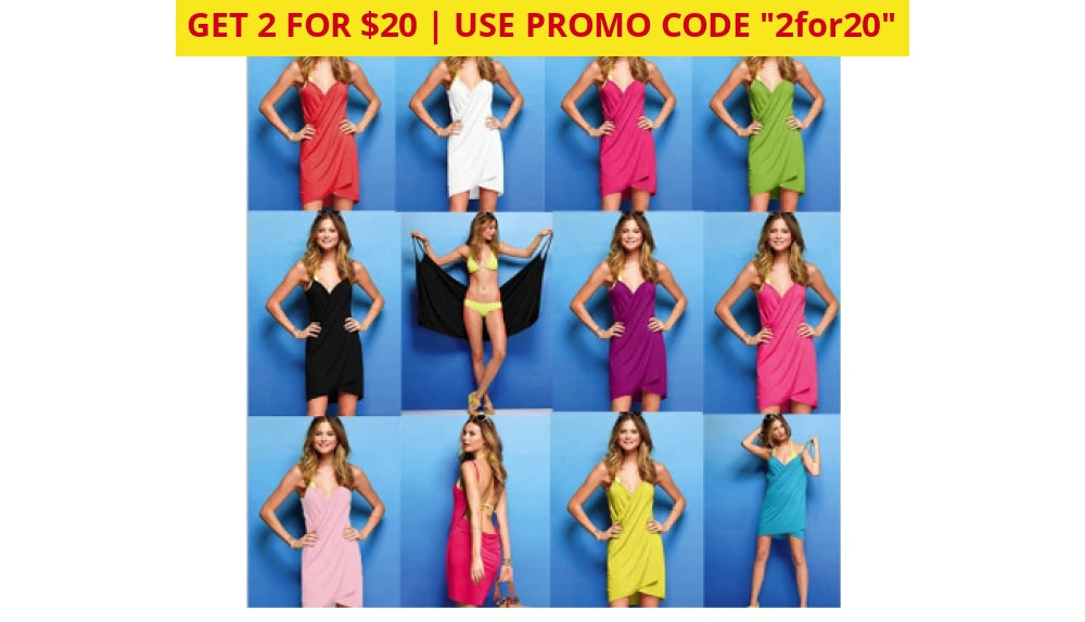 2 For $20! Bikini Wrap Dress - Assorted Colors Apparel