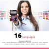 Franklin 16-Language SPEAKING Global Phrasebook Translator With Recorded Human Voice (Renewed) - Ships Quick!