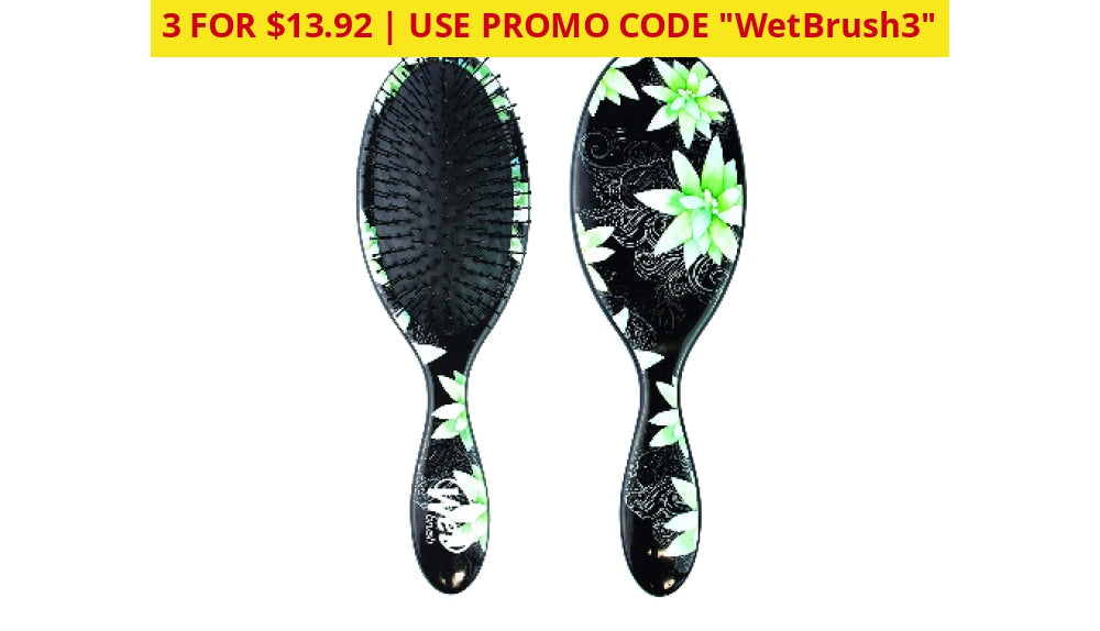 3 For $13.92: Worlds Best Detangler Brush: The Wet Brush! Floral Home