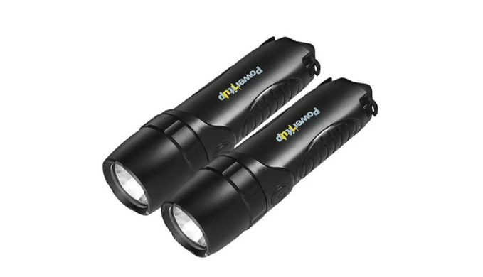 Pack of 2: 4-in-1 Flashlights w/ Built-in 5,200mAH Power Bank