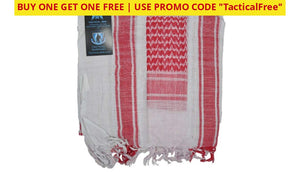 Buy One Get Free! Tactical 365 Operation First Response Military Shemagh Desert Scarf White/red