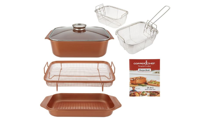 Copper Chef 7 Piece 14 In 1 Wonder Cooker Cooking System