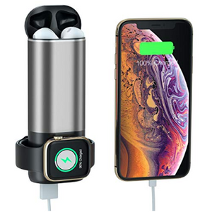 3 in 1 Charging Power Bank for Airpods, iWatch Series 4/3/2/1 + 5200mAh External Battery Pack for other Devices - Ships Quick!