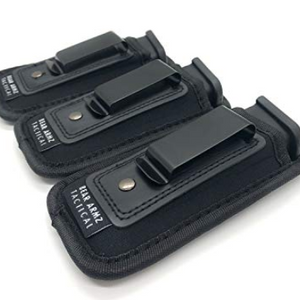 3 or 4 Pack: Universal IWB Magazine Pouch 9mm .40 .45 | Mag Holster for Glock 19 43 17 Sig 320 S&W M&P Shield | Fits 7 10 15 Round Pistol Mags!