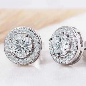 LOWEST PRICE EVER: Halo Stud Earrings with Swarovski Elements