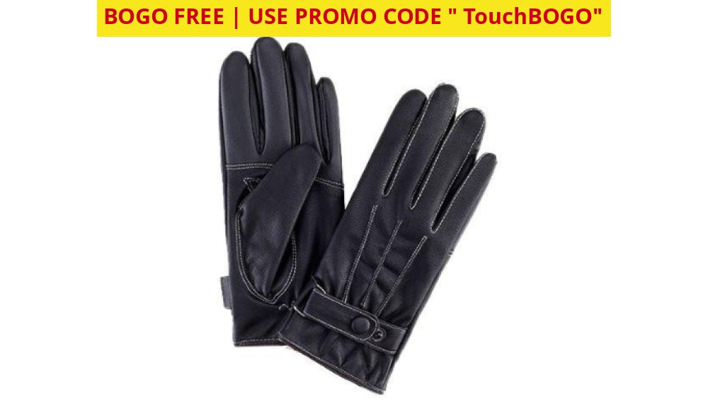 Buy One Get Free: Touchscreen Winter Gloves - Ships Quick! Mens Faux Leather/fleece Apparel