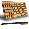 GREAT GIFT: Custom Carved Bamboo Bluetooth Mini Keyboard - Ships Quick!