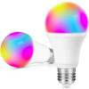 2 Pack: LizaTech Wi-Fi Controlled Color Changing 9W Light Bulbs - Control Remotely w/ App or Voice, Millions of Colors, 30k Hours of Use!