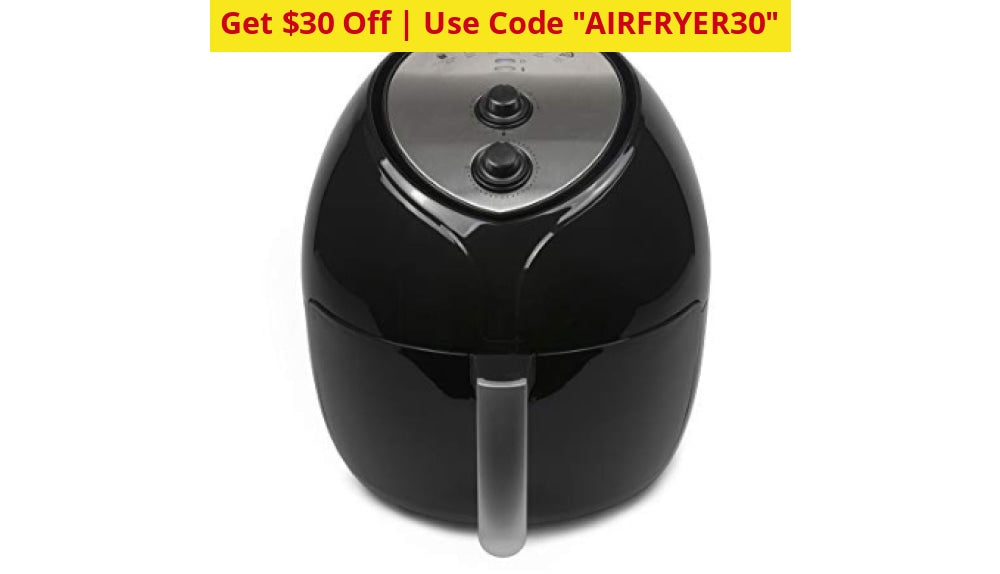 $30 Off - Use Code Airfryer30! Paula Deen 9.5 Qt Family-Sized Air Fryer (New) Ships Quick! Black