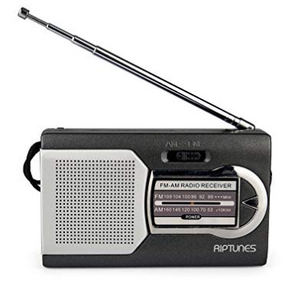 Riptunes AM/FM Portable Battery Operated Pocket Radio