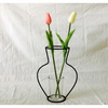 Creative Art Style Retro Iron Line Flowers Vase Metal Plant Holder