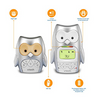 VTech DM225 Owl Audio Baby Monitor with up to 1,000 ft of Range, Vibrating Sound-Alert, Talk-Back Intercom, Digitized Transmission & Night Light