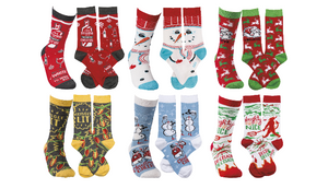 5 Pairs: Funny Holiday Socks (Randomly Selected) Great Gift - Ships Quick!