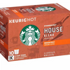 Buy Any 3 Get 1 Free! Starbucks K-Cup Coffee Pods - Ships Quick! House Blend (60 Count) Home