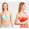 Pack of 6 Women's Plain and Lace Bras