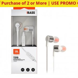 Genuine Jbl T210 Signature Sound Pure Bass Headphones With Mic (Retail Packaging) - Ships Quick!