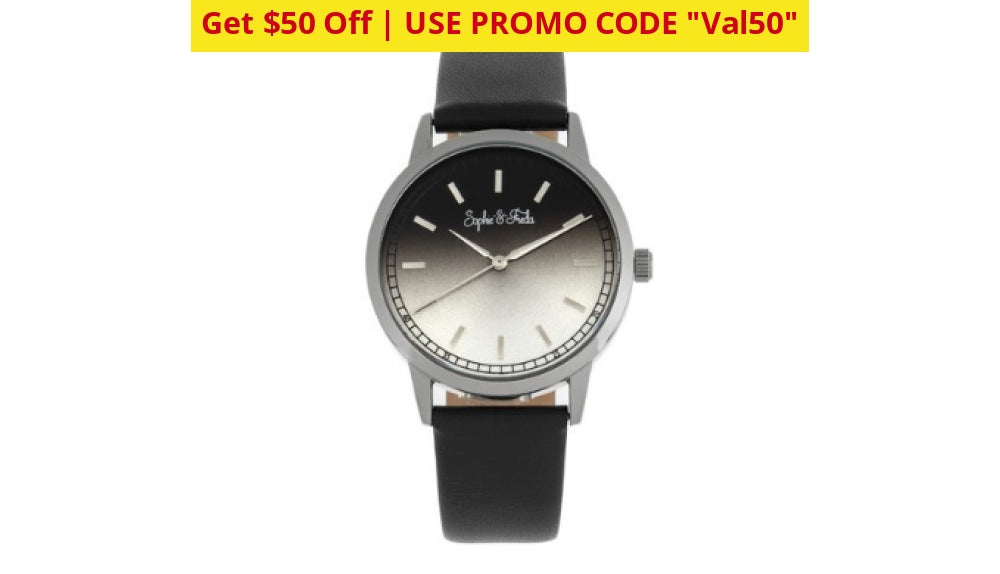 $50 Off: Sophie And Freda San Diego Quartz Ladies Watch - Ships Quick! Black Watches