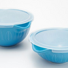 Mad Hungry 2-Piece Lipnloop Mixing Bowl With Lids - Ships Quick! Blue Home