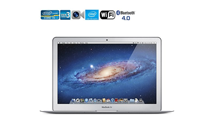 "Apple Macbook Air i5 1.6GHz 11.6"" 4GB RAM 64GB SSD WIFI (MC968LL/A - Refurbished) [MID-2011] + Black Case"
