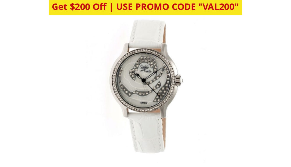 $200 Coupon: Sophie & Freda Monaco Swiss/quartz Movement Leather Watches - Ships Quick! White On