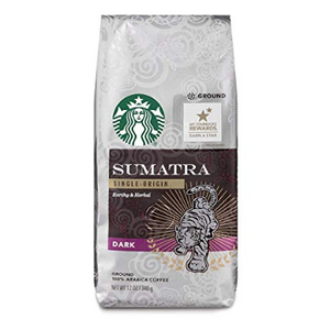 PRICE DROP: Starbucks Sumatra Dark Roast Ground Coffee (6 or 12 Pack) Past Best-By Date - Ships Quick!
