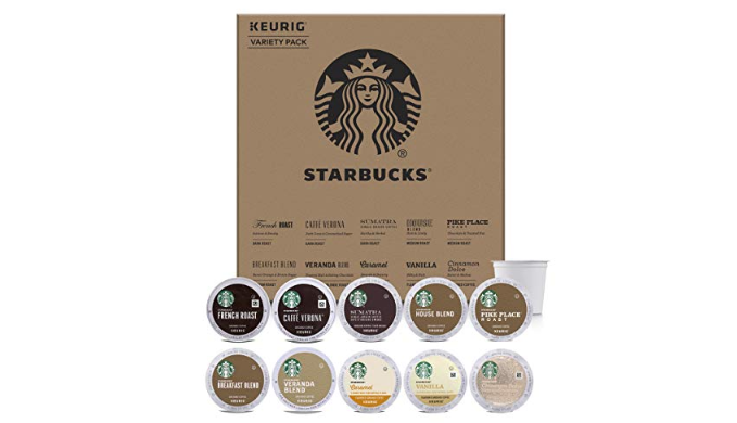 Starbucks Starter Kit K-Cup Variety Pack for Keurig Brewers, 40-80 Count Options (Past Best-By Date) - Ships Quick!