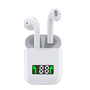 Wireless Bluetooth Earbuds with Battery Display and Wireless Charging Case