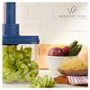 Wolfgang Puck 3-in-1 Electric Power Spiralizer With 3 Blades and Recipes (Refurbished)