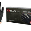 Industrial Black Nitrile Gloves, Box of 200, 3 mil, Latex Free, Powder Free, Textured, Disposable, Non-Sterile