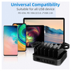 IPM 3 IN 1 Desktop Charging Stand 5 Port USB Charging Station