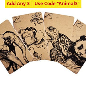 Buy 1 Get 2 Free: Endangered Species Notebook Pocket Book - Ships Quick! Home